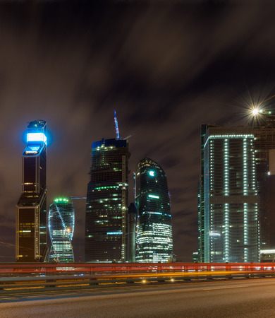 Moscow-city at night TTK photo