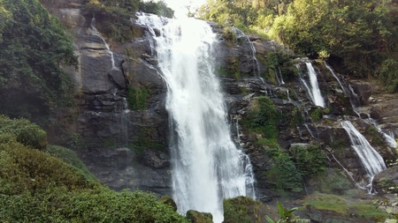 brooklet: Waterfall in deep forest