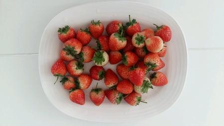 the freshness: Strawberry freshness Stock Photo