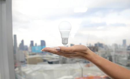 led bulb: LED Bulb - Lighting for you Stock Photo