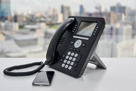 Office Phone and Mobile Phone Banco de Imagens - 48198059