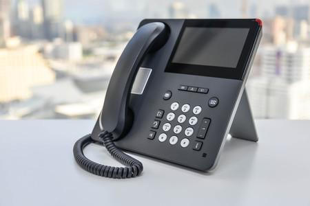 IP Phone - Technology of Communication Banco de Imagens