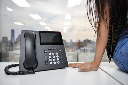 IP Phone - technology of voice Banco de Imagens - 48864777