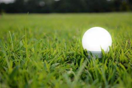 lighting background: LED Bulb with lighting- The lighting Technology