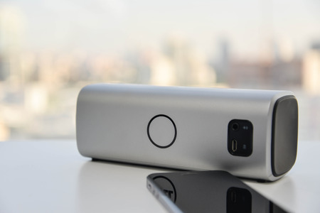 speaker: Wireless Speaker connected to Mobile phone