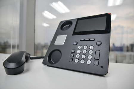 IP Phone - New office phone technology Banco de Imagens - 50367761