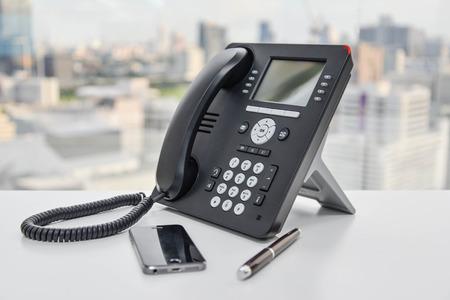 IP-Telefon - Neues Bürotelefon-Technologie Lizenzfreie Bilder