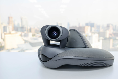 ip cam: Video Conference Device Stock Photo