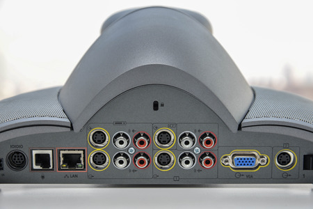 ip cam: Back panel of Video Conference Device