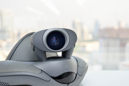 ip camera: Video Conference Device Stock Photo