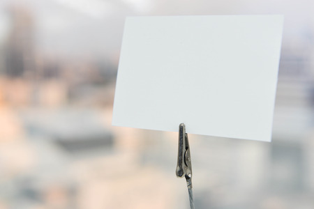 mock: Mock up - Paper note Stock Photo