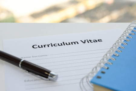 vitae: Draft of Curriculum Vitae Stock Photo