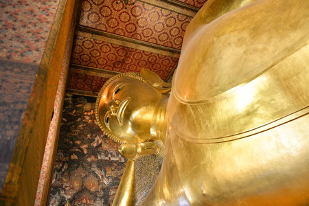 largest: Largest Buddha in temples at Thailand Stock Photo