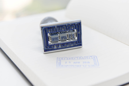 personalised: Date - Rubber stamp