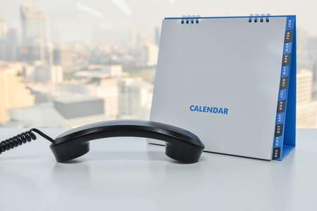 handset: IP Phone handset and calendar