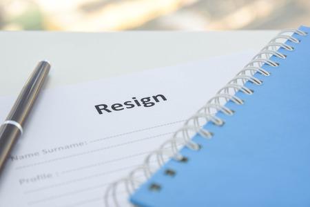 resignation: Draft of Resignation Letter