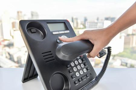 Drücken Sie die Telefontastenfeld auf Dial-up Standard-Bild - 58517678