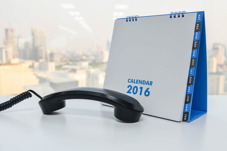 ip: IP Phone handset and calendar of 2016