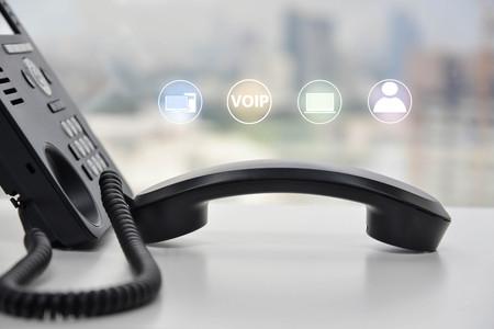 アイコン - マルチ デバイスに接続されている電話の概念で IP 電話