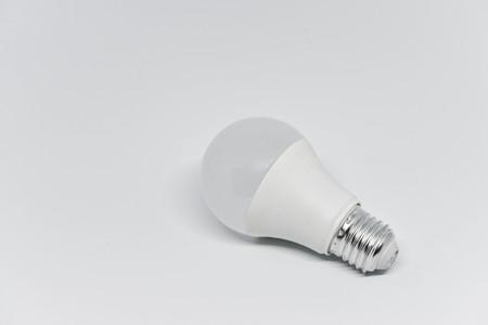 LED bulb on the white background