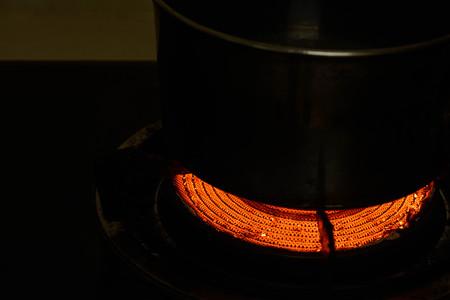 Feuer vom Gasherd - Niedrige Taste Lizenzfreie Bilder