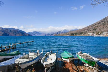 Pier at the Lake Chuzenji in the Nikko Japan