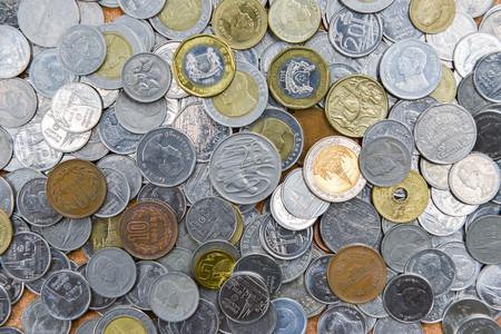 Viele Münzen als Hintergrund