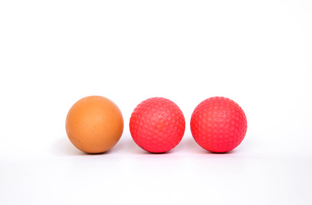 Golf balls with egg