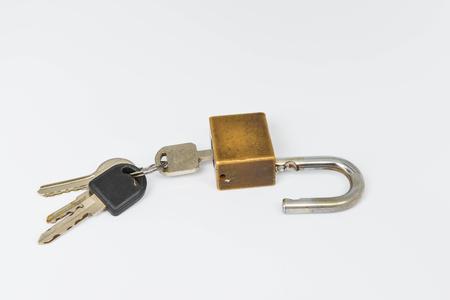 Key is unlocked a master key Stock Photo