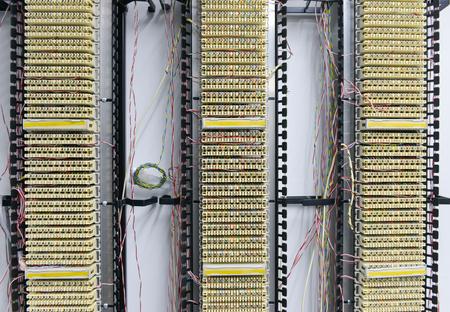PABX telephone exchange, wires Between Circuit Board Standard-Bild