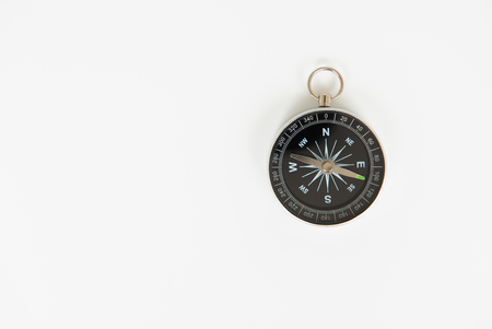 Compass on the white background with copy space Standard-Bild - 106658941