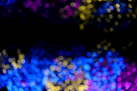 Beautiful colourful lighting bokeh as a background Standard-Bild - 106658943