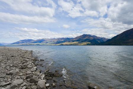 Lake Wanaka in New Zealand Southland Standard-Bild - 106658987