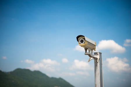 The CCTV camera on the outdoor for security concept Standard-Bild - 118982043