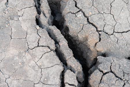 Fissures on the soil floor Banco de Imagens