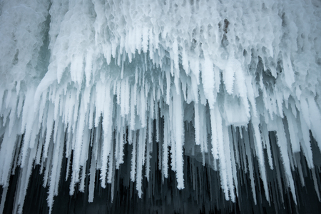 Ice Icicle from the cave ceiling