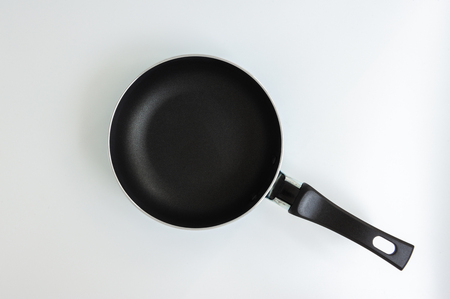 Black mini pan on the isolated white background