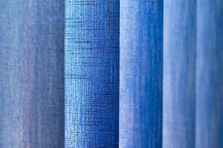 jalousie: Blue vertical jalousie texture  in the office. Stock Photo
