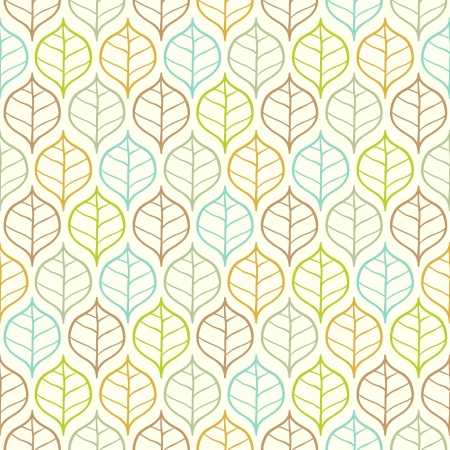 Vector light leaf pattern Illustration