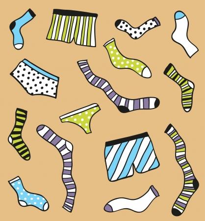 Underwear pattern  Vector Illustration