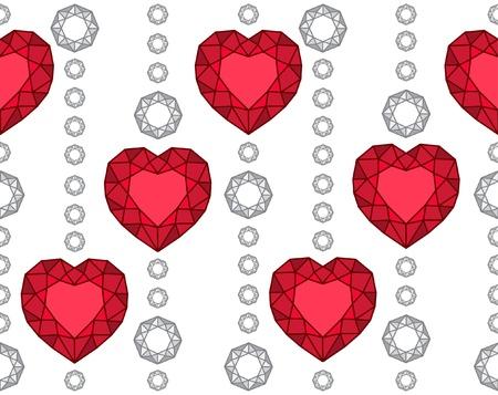 Diamond heart pattern Stock Vector - 14836963