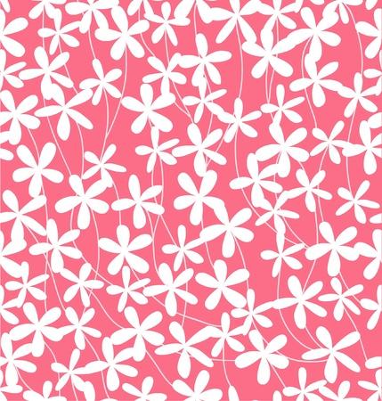 Seamless pink floral pattern Illustration