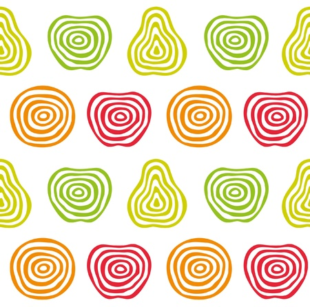 concentric circles: Stylized fruit pattern