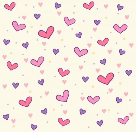 pink hearts: hearts pattern