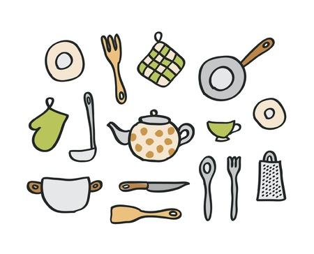 the grater: Doodle kitchen elements Illustration