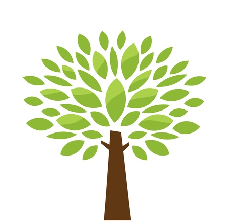 albero della vita: Vettore, albero stilizzato Vettoriali