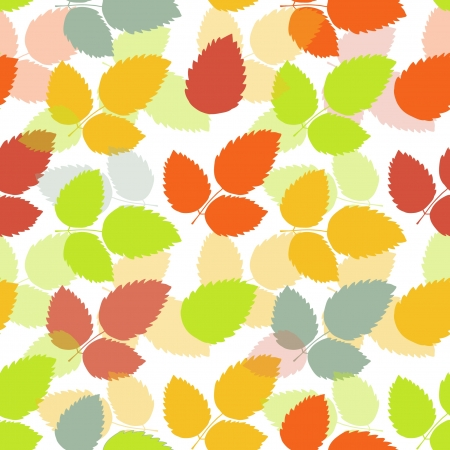 Seamless leaf pattern  Colorful vector background