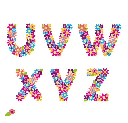 Beautiful floral letters  Part 4