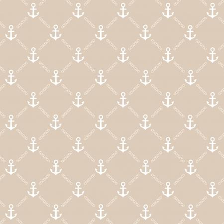Beige anchor pattern Vector