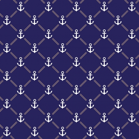 Vector patrón ancla azul oscuro